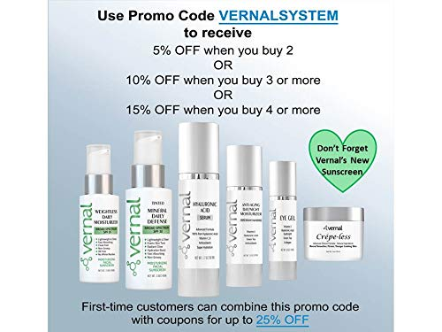 419l4dZJDoL - Vernal's 100% Pure Hyaluronic Acid Serum – Rich With Vitamins C, A, D, E and Age-Defying Antioxidants - Best Anti Wrinkle, Anti Aging Face Serum that Lifts and Firms Skin, Made in USA