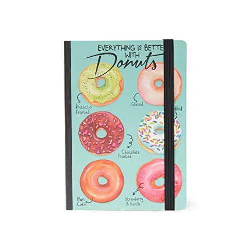 Legami–Notizbuch gebunden, Maße: 12,5x18cm, Artikel-Nr. NOTP00 Sechs Donuts 12.5 x 18 cm
