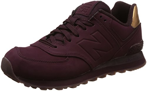 New Balance Damen 574 Sneakers, Violett (Burgundy), 36 EU