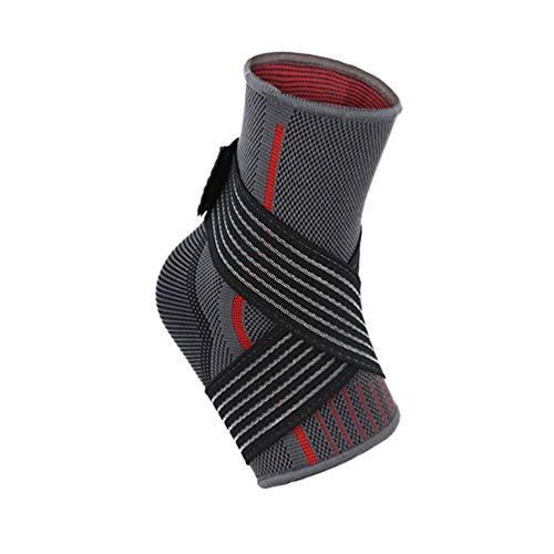 BESPORTBLE Tobillera Tobillera de Compresión Ajustable Transpirable Tobilleras Fitness Riding Envoltura Tobillera para Ejercicio Deportivo Protección de Baloncesto Talla M (Rojo)