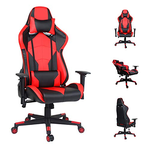 EUCO Gaming Chair Racing Style Computer Chair Ergonomics PC Chair High Back Reclining Executive Office Chair with Adjustable Armrest and Lumbar Support,Well Padded