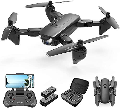 4DF6 RC Drone with 1080P HD Camera for adults Beginners,FPV Live Video RC Quadcopter for kids, 2 Batteries and Carrying Case, With Auto Hover,3D Flip,Headless Mode,One Key Start,Waypoint Fly