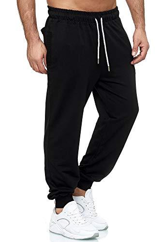 Tazzio Jogginghose Slim Fit Herren Sporthose Fitness Freizeit Hose Trainingshose Sweat Sweatpants Jogger   16600 (Schwarz, X-Large)