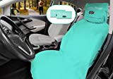 Nexersys Microfiber Sports Towel. 2-in-1 Workout Towel and Car Seat Protector. Dual Pocket Design. Universal Fit. Large Multipurpose Exercise Towel. Quick Dry. (Aquamarine) 1 Pack