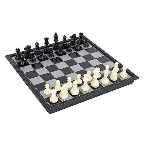 Juego de ajedrez 3 en 1 de madera, juego de ajedrez internacional, juegos de mesa para adultos, 2 jugadores, ajedrez, Dama Backgammon, diseño plegable, juguetes educativos para niños (F)
