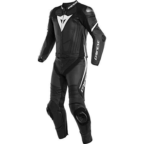 Dainese Laguna Seca 4 - Tuta da moto in pelle, 4 pezzi, nero/bianco 116