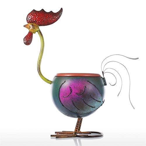 Decoraciones creativas y accesorios para el hogar TooArts Booster Floderpot Regalo Decoración del hogar Metal Multicolor Hierro Rooster Hogar Artículos Artículos Artículos de arte Decoración del hogar