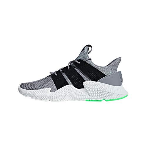 adidas Prophere, Zapatillas de Gimnasia Hombre, Gris (Grey Three F17/Core Black/Shock Lime), 37 1/3 EU