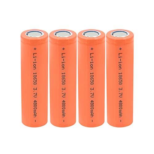 HTRN Batería De ión De Litio De 3.7v 4800mah 18650, Recargable para La Batería De ión De Litio De La Linterna 1pcs