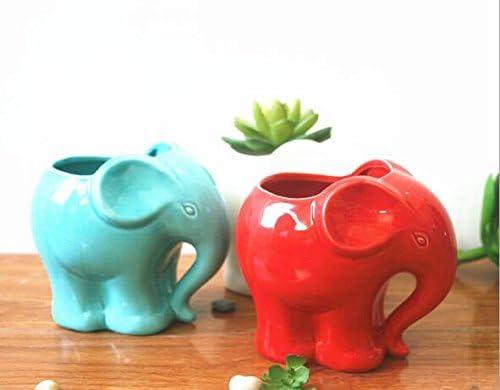 Ceramic elephant planter _image4
