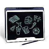 15 inch LCD Writing Tablet, JONZOO Office Electronic Blackboard Digital Memo Notepad Handwriting Tablet, Paperless Message/Drawing Board for School/Home, Dark Blue