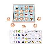 STOBOK Juego de mesa de madera con memoria, puzzle, juego de tarjetas de aprendizaje de concentración, juguete de regalo para niños