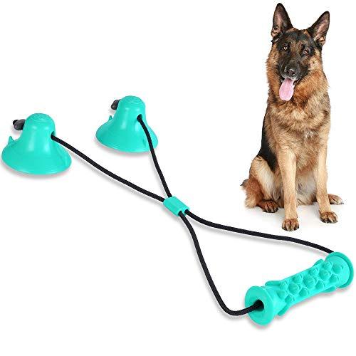 Rosgel Kauspielzeug für Hunde, Molar Bite Spielzeug mit Saugnapf, Beißspielzeug für Welpen, Zahnen Spielzeug für Welpen zum Ziehen, Kauen und Auslaufen