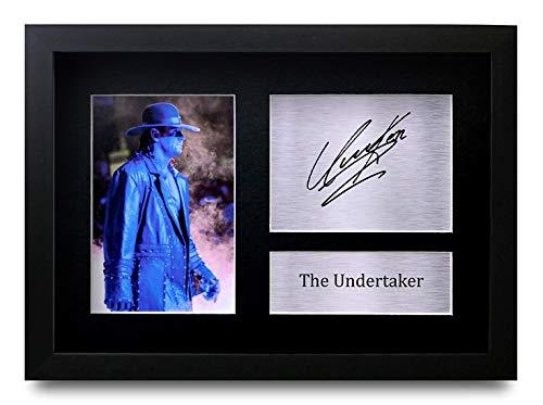 HWC Trading The Undertaker A4 Gerahmte Signiert Gedruckt Autogramme Bild Druck-Fotoanzeige Geschenk Für WWE WWF Wrestling-Fans