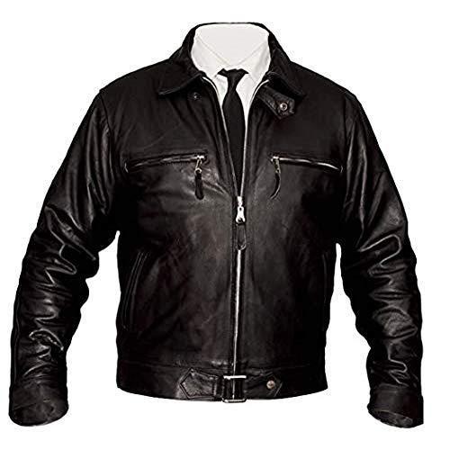 Picasso Fashion Herren Lederjacke - Klassische Rider Fighter Pilot Fliegerjacke Winter warmes 100% Bull Leder