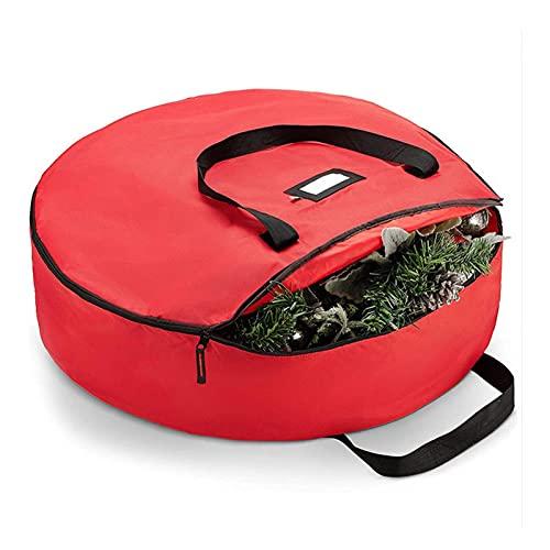 TBUDAR Christmas tree storage bag, Christmas tree storage bag waterproof Oxford cloth round square optional decorative storage storage bag (Color : 1)