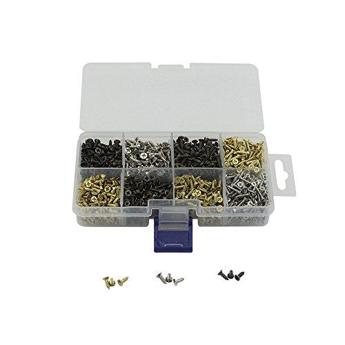 Kleine Schrauben für kleine Scharniere Antike selbstschneidende Schrauben Mehrzweck-DIY-Schrauben Set Gold Silber Bronze 2,5 x 6 mm 2,5 x 8 mm 2,5 x 10 mm Zoll 1600 Stück