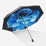 Gfbyq Ultra Lights Y Los Pequeños Mini Paraguas Plegable Compacto 3 Paraguas, 8 Costillas De Viaje Paraguas Plegable Hombres Mujeres (Color : Blue)