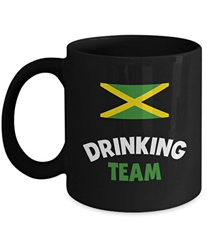 Jamaica Drinking Team Mug Acrylic Coffee Holder Black 11oz Alcohol Wine Liquor Drinker Funny Beer Olympics Cup
