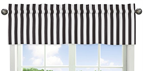 Black and White Stripe Window Valance for Paris Collection