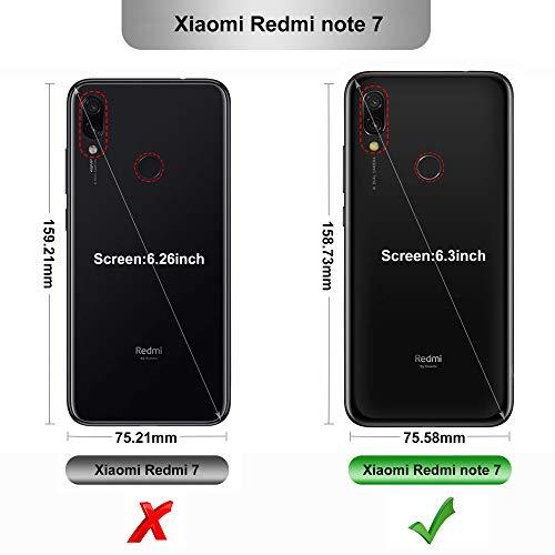 iBetter per Xiaomi Redmi Note 7 Cover, Thin Fit Gomma Morbida Protettiva Cover, Protezione Durevole, per la Xiaomi Redmi Note 7/Xiaomi Redmi Note 7 PRO Smartphone.(Nero)