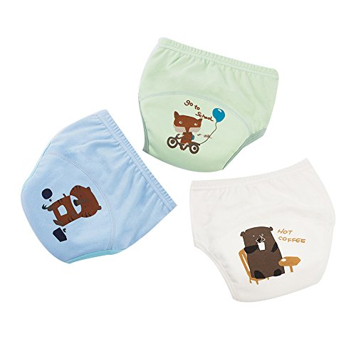 G-Kids G-Kids 3PCS Baby Mädchen Jungen Trainerhosen Training Pants Windelhöschen Unterhose Waschbare Lernwindel Töpfchentraining, C, 110-116