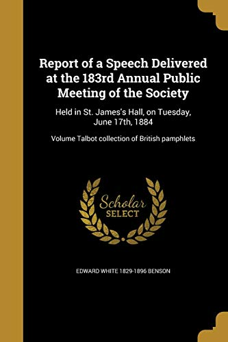 REPORT OF A SPEECH DELIVERED A