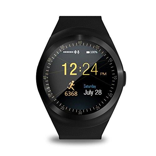 TKSTAR Y1 Smartwatch, 3,1 cm (1,22 Zoll), Touchscreen, Fitness-Tracker, Schlafmonitor, Schrittzähler, Kalorienzähler, unterstützt GSM-SIM-Karte, Schwarz