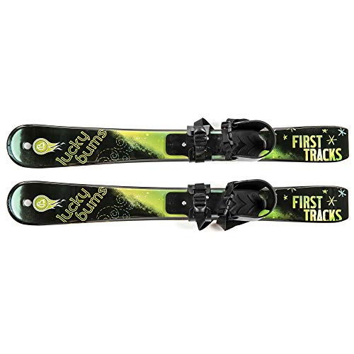 Lucky Bums Kids Beginner Snow Skis, Green, 70 cm