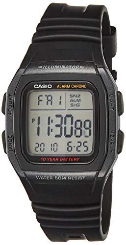 Casio Youth Digital Black Dial Men's Watch - W-96H-1BVDF (D054)