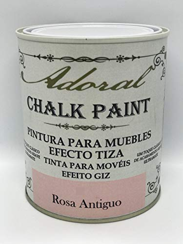 Adoral - Chalk Paint Pintura para muebles Efecto Tiza 125 ml (Rosa Antiguo)