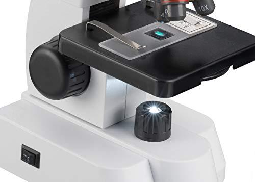 Bresser Junior Mikroskop mit 40x-640 facher Vergrößerung, Zoom-Okular und umfangreichem Starterpaket für den perfekten Einstieg in die Mikroskopie