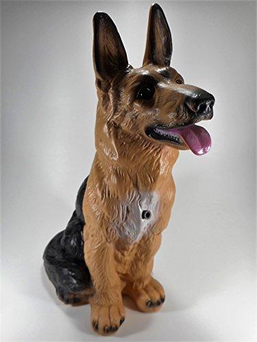 Großer Schäferhund 38 cm 88023 Kunststoff-Figur mit Bewegungsmelder
