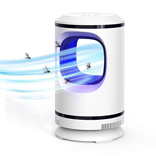 Ahlirmoy Lampada Antizanzare Elettrica, Zanzariera Elettrica con Luce UV Alto-efficiente Mosquito Killer per Casa Ufficio Patio Cucina (Bianca)