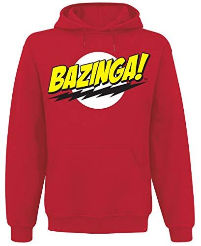 Sweat Bazinga Super Logo The Big Bang - Rouge (M)