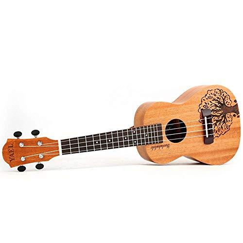Sanqing Ukulele de 23 Pulgadas, Guitarra Ukelele, Ukelele de Palisandro, patrón de árbol de la Suerte,23inch