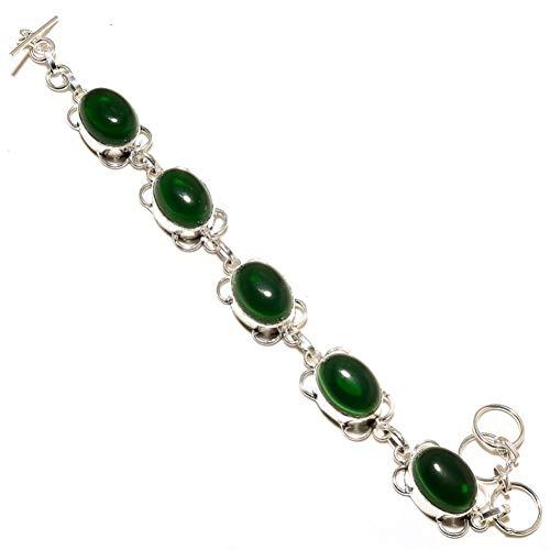 Green Chrome Diopside Quartz! Trendy Bracelet 7-9' Gift For Wife! Sterling...