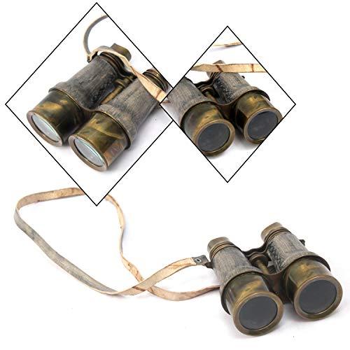 Antique Handmade Victorian Marine Brass Leather Binocular Sailor Instrument spyglasses