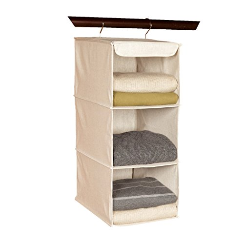 "Richards Homewares 3 Shelf Sweater Organizer, 10""W X 15"" D X 24"" H-Canvas/Natural"