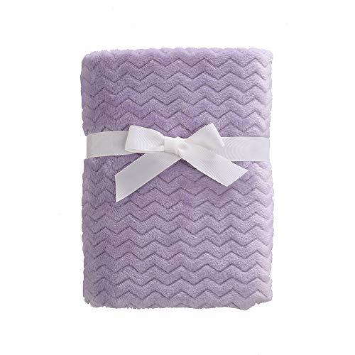 CREVENT 30''X40'' Light Cozy Plush Fluffy Warm Fleece Stroller Blanket for Girl Infant Toddler Crib Cot Stroller (Wave lanveder)