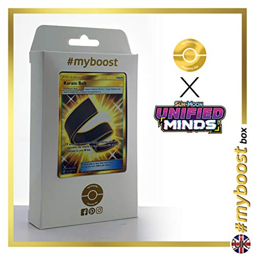 Karate Belt (Cinturón Negro) 252/236 Entrenadore Secreta - #myboost X Sun & Moon 11 Unified Minds - Box de 10 cartas Pokémon Inglesas