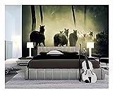 Relovsk Fototapete Pferd Pony Tier Baum Pflanzen Fototapete Home Schlafzimmer Dekoration Poster150cmx105cm