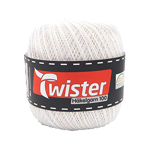 Häkelgarn Twister - Weiß - 100g