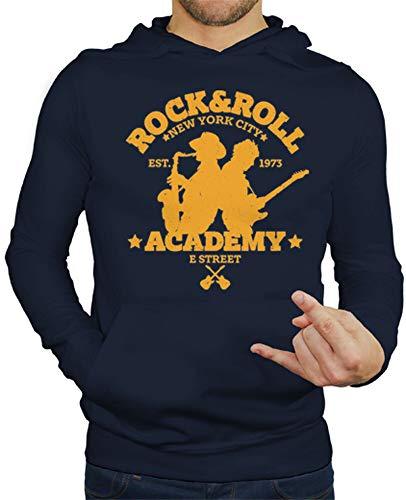 tostadora - Felpe con Cappuccio Rock Roll Academy - Uomo Blu Marino M