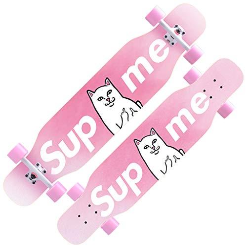 YYHSND Skateboard Anfänger Ahorn Longboard Erwachsene Jungen und Mädchen Professionelle Pinsel Street Dance Board Teen Vier Räder Skateboard (Color : D)