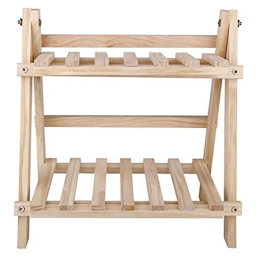 Xuping shop Maceta para macetas de madera con diseño de bonsái, ideal para el hogar, jardín, para interiores y plantas, bandejas de madera (color marrón cálido)
