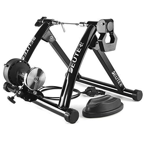 Fahrradtrainer Stand Indoor-Übung Heimtraining 6-Gang-Magnetwiderstand Fahrradtrainer Straße MTB Fahrradtrainer Radroller für Mountainbike