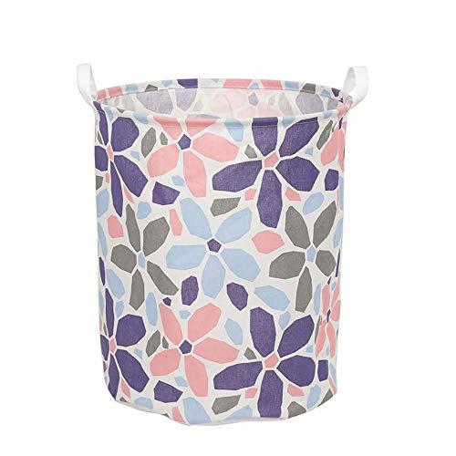 JOMSK Cesta de lavandería Grande para Dormitorio Impreso Lienzo de Almacenamiento a Prueba de Agua Cubo Organizador de Juguetes y de almacenaje Plegable Cesta de lavadero