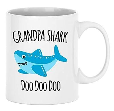 Grandpa Shark Mug - Grandfather Mug - Gift For Granddad - Birthday Gift From Grandkids - Christmas Coffee Cup Present
