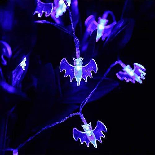 ZKCXIM Led Light Halloween Pumpkin Spider Bat Skull String Lamp Light Party Outdoor Decoration Room Vacation Indoor Lighting 3M 30Leds(Battery) E
